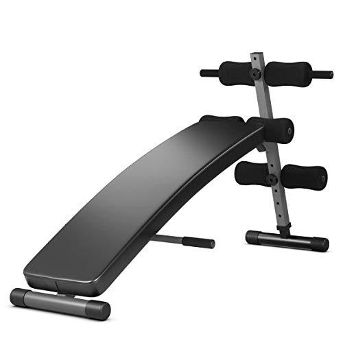 Goplus Adjustable Bench Sit up Bench Slant Board Decline Ab Bench Crunch Board (Black)