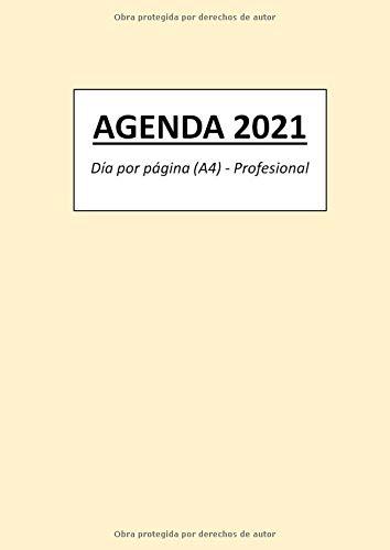 AGENDA 2021: Día por página (A4) - Profesional
