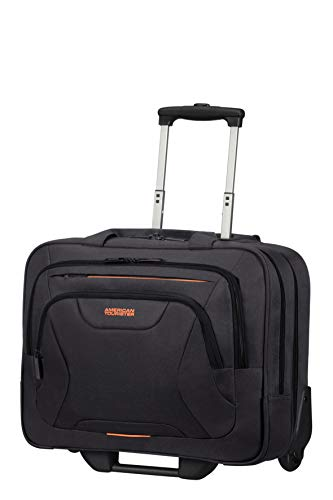 American Tourister At Work - Maletín para portátil, Negro (Black/Orange)