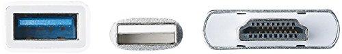 Callstel Lightning HDMI: HDMI-Adapter für kompatibel mit iPhone & iPad, USB-Stromversorgung, 1080p-Video (iPad Air 2 HDMI Adapter)