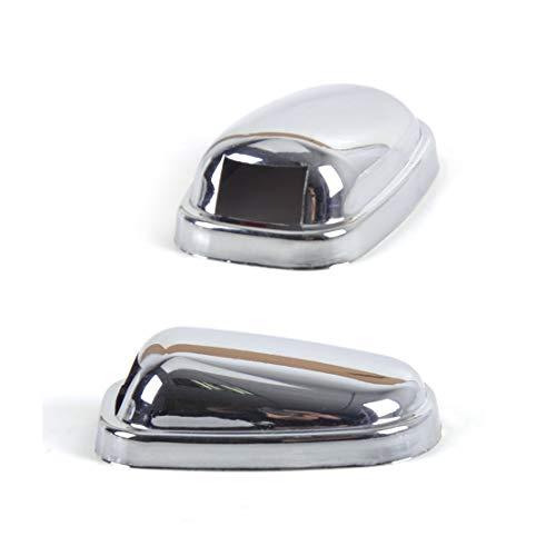 CHEdnh-Hk Windschutzscheibendüse 2ST Chrome for Scheibenwischer Wiper Wassersprühdüse Trim Abdeckungs-Schutz for Ford Focus Mk3 Modelle 2011 2012 2013 2014 Glasauslauf (Color : Chrome)