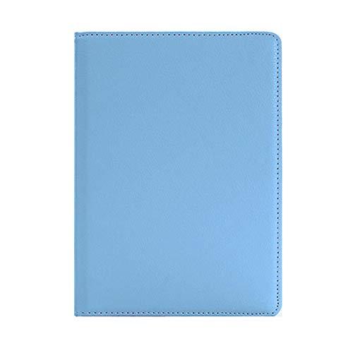 360 rotierenden Fall für Samsung Galaxy Tab A A2 10,5 Zoll 2018 Tablet SM-T590 SM-T595 Fall Folio Leder Ständer Abdeckung mit Stift + Film-Himmelblau