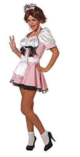 narrenkiste W4647-34-A - Vestido para nia (talla 34), color rosa y negro