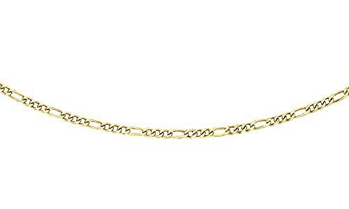 Carissima Gold Damen 9k (375) Gelbgold 1.1mm Diamantschliff Figaro Halskette 1.15.0014 46cm/18zoll