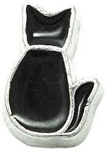 Cherityne Black Cat Floating Charm for Locket Pendants