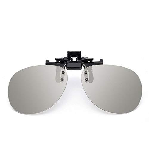 MXECO 3D-Brille Clips Kino gewidmet Polarisation Polarisation 3D-Fernseher Stereo Männer Frauen Kinder langlebig nützlich (grau (rund))