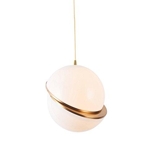 Moderne créative Lampe suspension boule design laiton lampe suspension abat-jour en verre blanc lait Europe du Nord salle à manger Suspension Lampe salle à manger lampe E27