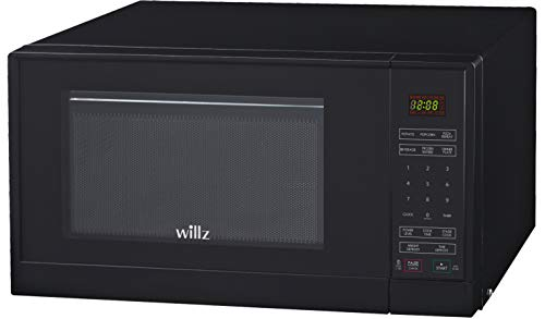 Willz WLCMSR09BK-09 Countertop Microwave Oven, 0.9 Cu.Ft/900W Microwave Oven, 6 Cooking Programs LED Lighting Push Button, 1 Glass Tray, 1 Roller Ring, 1 Shaft, 1 Power Cord, Black