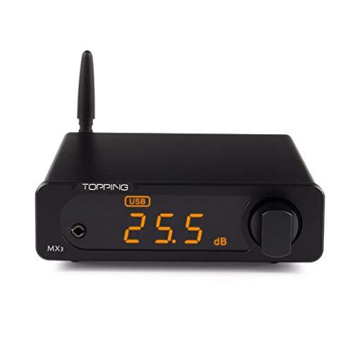 Topping MX3 Kopfhörerverstärker DAC-Empfänger - Digital verstärker mit integriertem Bluetooth (Schwarz)