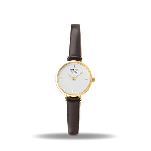 Davis - Orologio Donna Design Piccolo Quadrante (Acciaio Oro/Cinturino in...