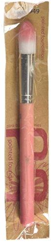 Bdellium Tools Pinceau de maquillage professionnel Rose Série Bambu pointu Fond de teint