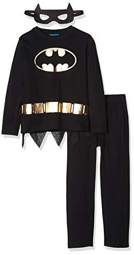 Disney Jungen HS2195 Zweiteiliger Schlafanzug, Schwarz (Black Black), 8 Jahre