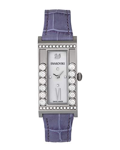Swarovski - Reloj cuadrado blanco con cristales para mujer