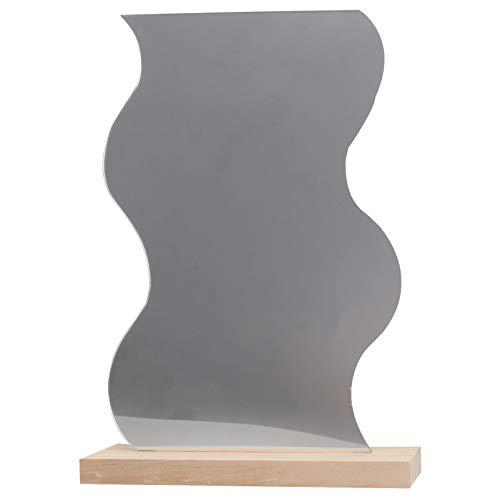 FRCOLOR Make up Spiegel Unregelmäßiger geometrische Desktop Mirror Standspiegel Zimmer kreative Kosmetikspiegel für Make Up Wohnzimmer Badezimmer Hotel (Welle Form)