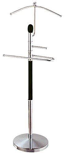 Herrendiener Holzteile schwarz lackiert Metall silber max. 2kg