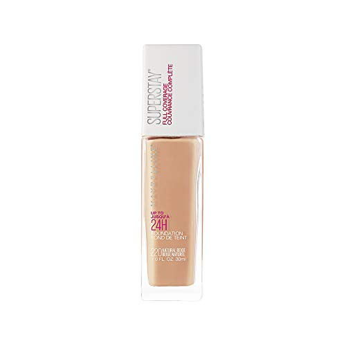 Maybelline Base de Maquillaje Superstay, Full Coverage, 220 Natural Beige, 30 ml