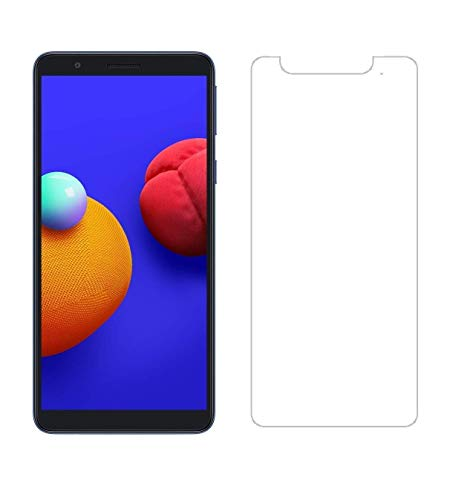 Talk World Mobile Care Compatible with Tempered Glass Screen Protector Guard for Samsung Galaxy M01 Core Pack of 2