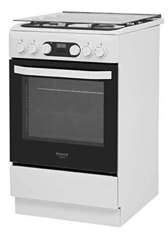 Hotpoint HS5G5CHW/IT, Cucina da 50cm con Forno elettrico, a Libera Installazione, 4 Fuochi