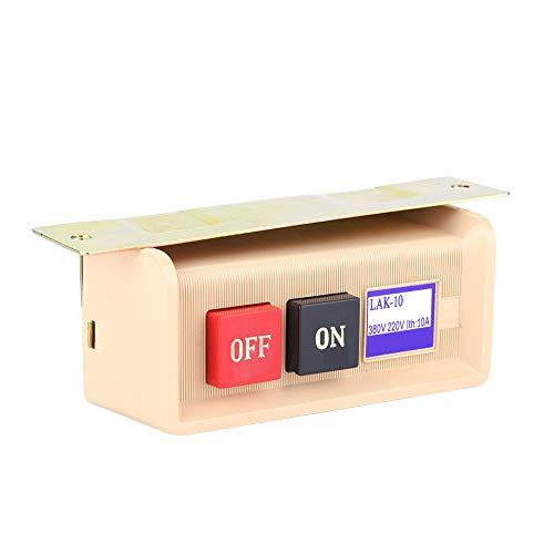 Pangding Interruptor de botón de Motor de máquina de Coser Industrial, AC 380 / 220V Accesorios de Repuesto Interruptor de Encendido y Apagado, práctico para Sastr