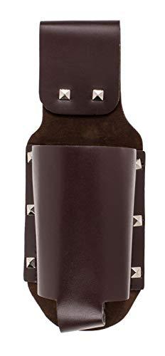 Out of the Blue 713164 - Flaschenhalter aus Kunstleder mit Gürtelschlaufe, ca. 23 cm