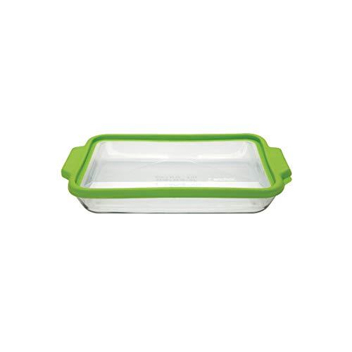 Anchor Hocking 3-Quart Glass Baking Dish with Green TrueFit L