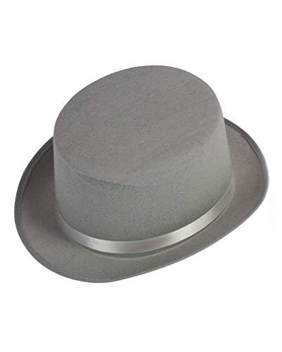 Horror-Shop gris Top Hat