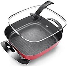 Lazxcnvbg wok tefal, Pot chaud électrique électrique de ménage multifonctionnel, dortoir approprié Riz de riz intégré peti...