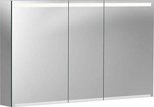 Keramag Geberit Option Spiegelschrank mit Beleuchtung, DREI Türen, Breite 120 cm, 500207001-500.207.00.1