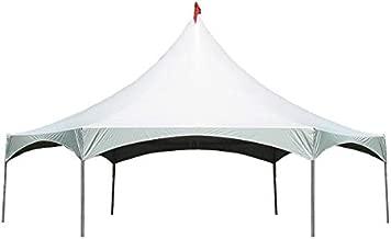 40' x 40' Hexagon High Peak Frame Party Tent - White