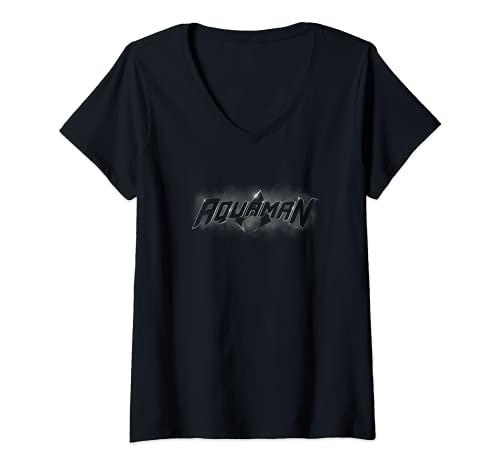 Mujer Aquaman Title Camiseta Cuello V