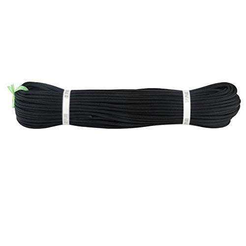 Corde auxiliaire 6 mm Diamètre du Faisceau de sécurité Rouge/Noir Idéal for Une Utilisation en intérieur et extérieur - Salle de Sport d'escalade