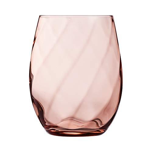 Chef & Sommelier ARC N6676 Arpège Color Lot de 6 verres à eau, à jus de fruit en cristal Krysta Rose 360 ml