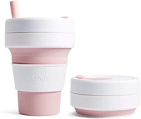 Stojo S2-ROS Collapsible Silicone Cup Coffee, Rose