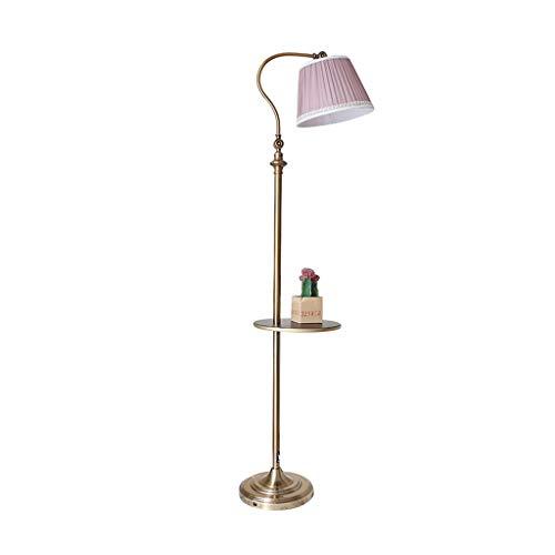 Staande Lamp Living Room Sofa Verticale Lamp Verstelbare Lichtinvalshoek Slaapkamer Leeslamp Nordic Met Thee Tafel Vloer van het huis Licht LED (Color : Pink, Size : 30cm*160cm)