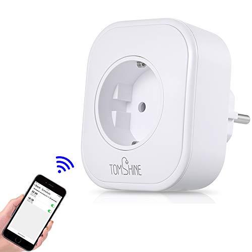 Tomshine Presa Intelligente WiFi Smart Plug Spina Energy Monitor Compatibile Controllo Remoto Funzione di Temporizzazione Presa Wireless Compatible alexa/Google home/IFTTT per iOS/Android
