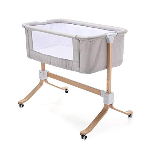 Find Discount Quanqiugou Travel Cot Folding Crib Baby Portable Bed Connected with Parents' Normal Bi...