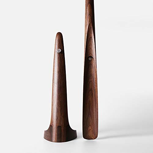 Fanuosuwr Bequemer Schuhlöffel Langstieligen Schuhanzieher Black Walnut 23-Zoll-Reise-Schuh Helper Sehr nützliches Gadget Leicht zu Tragen (Farbe : Braun, Size : 4.5x4.5x60cm)