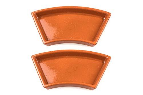 FUMOSA keramische Grillschale Ronda für 57cm Holzkohlegrills (z.B. Master-Touch) - Cazuela - Tapas Keramik Schale - 2er Set