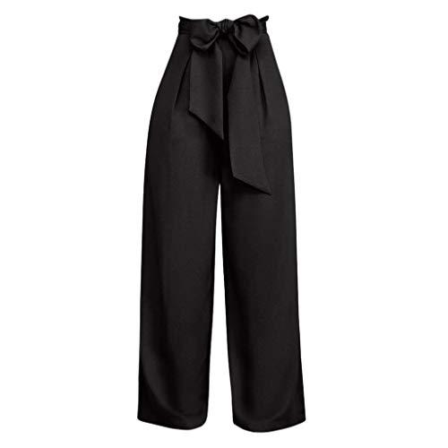 Pantalones Largos para Mujer Anchos Verano Cintura Alta PAOLIAN 2019 Pantalones Vestir Palazzo Rectos Negocios Elegantes Fiesta