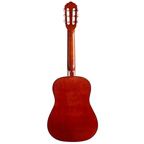 ADM Beginner Classical Guitar 1/2 size 34 Inch Nylon Strings Wooden Guitar, Sunset