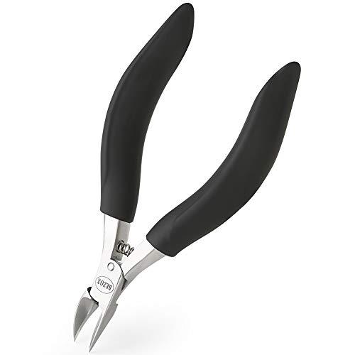 BEZOX Nagelschere für tief Eingewachsene Fußnägel aus Edelstahl für Dicke und durch Pilzbefall Nagelzange - Weicher Griff und Metall Geschenkboxen