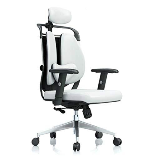 Ergonomics with lumbar support Silla de oficina creativa, ergonomía + silla de computadora reclinable, silla de juego de doble giro giratorio + silla de juego nuevo para oficina, negro For home and wo