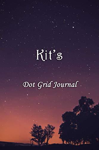 Kit's Dot Grid Journal: Kit Personalised Custom Name Bullet Point Dot Grid Notebook - Starry Night