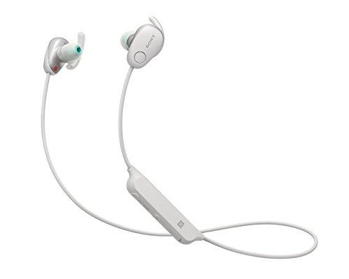 Sony WISP600NW.CE7 - Auriculares deportivos inalámbricos (modo sonido ambiente, cancelación de ruido, Bluetooth y NFC), color blanco