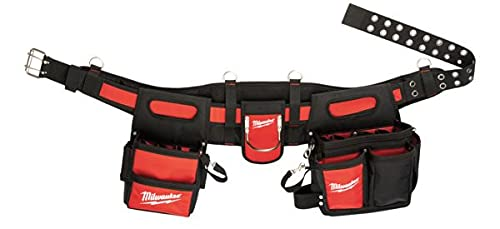 Milwaukee 48 22 8110 Electricians Work Belt with 29 Pockets - Red Black