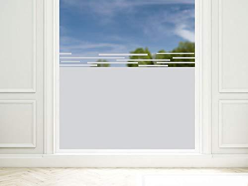 GrazDesign Inkijkwerende folie, modern strepenpatroon, raamfolie voor decoratie/zichtbescherming, glasdecoratiefolie ondoorzichtig 90x57cm