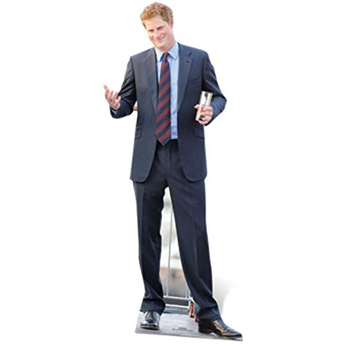 Star Cutouts, Prince Harry, Cardboard Cutout Standup, Royal Celebrity Life-Size Stand-In - 73' x 32'