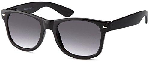 MOKIES Unisex Sonnenbrillen - UV400 Filterkategorie 3 CE Kennzeichnung - Polycarbonat - mit Federscharnier - 101 Grau verlaufend
