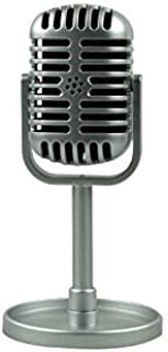 Alician Classic Retro Dynamic Vocal Microphone Vintage Style Mic Universal Stand Compatible Live Performance Karaoke Studio Recording Silver