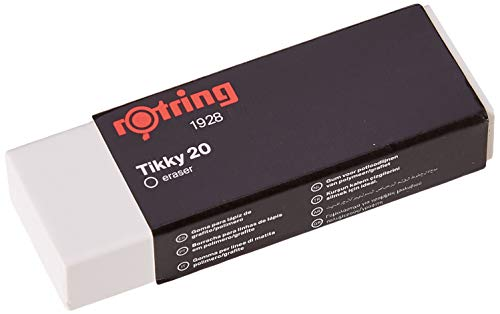 Rotring S0195831 Radierer Tikky 20, Polyvinylchlorid, 22 x 13 x 66 mm